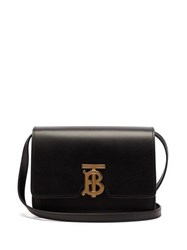 Burberry Tb Monogram Leather Cross Body Bag Black