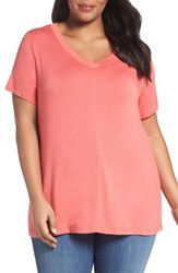 Sejour Plus Size Women's Slub Knit Tee