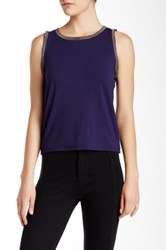 Anne Klein Embellished Tank Blue