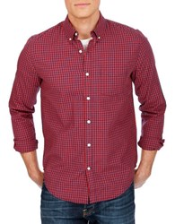 Lucky Brand Gingham Plaid Sportshirt Red