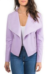 Bagatelle 'S Drape Faux Leather And Faux Suede Jacket Lilac