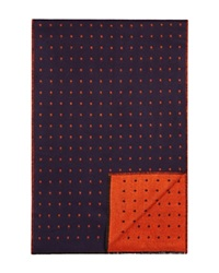 The Men's Store At Bloomingdale's Reversible Dot Scarf Navy Orange