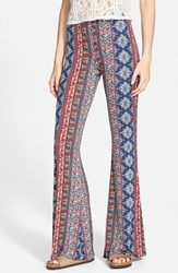 Hip Junior Women's H.I.P. Mixed Print Flare Leg Pants