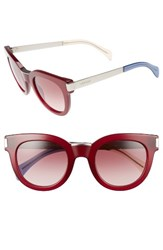 Tommy Hilfiger Women's 49Mm Butterfly Sunglasses Burgundy Palladium Burgundy Palladium