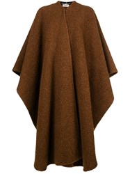 Salvatore Ferragamo Vintage Oversized Draped Cardi Coat Brown