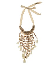 Figue Oceane Shell And Tassel Necklace