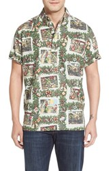 Men's Reyn Spooner 'Hawaiian Christmas' Classic Fit Wrinkle Free Pullover Shirt Sand