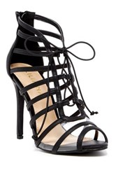 Liliana Zia Lace Up Heeled Sandal Black