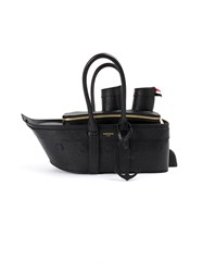 Thom Browne Boat Shaped Shoulder Bag Black
