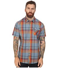 O'neill Emporium Plaid Short Sleeve Top Blue Men's Clothing
