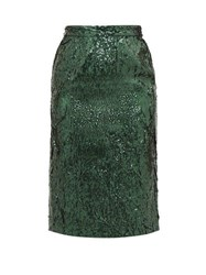 N 21 No. Sequinned Pencil Skirt Green