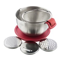 The Bakehouse And Co Stainless Steel Mixing Bowl With Grater Attachments