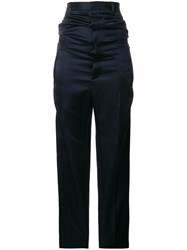 Y Project High Waisted Trousers Blue