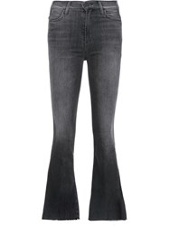 Mother Bootcut Jeans Grey