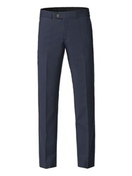 Aston And Gunn Alondra Navy Linen Blend Tailored Fit Trouser Blue
