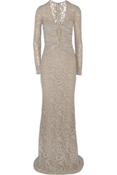 Burberry Green Carpet Challenge Cutout Lace Gown Nude