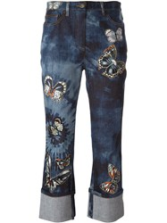 Valentino 'Tie And Dye Japanese Butterfly' Jeans Blue