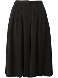 Michael Michael Kors Pleated Wide Leg Shorts Black