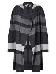 East Stripe Edge To Edge Cardigan Slate
