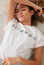 Urban Outfitters Friends Logo Tee White