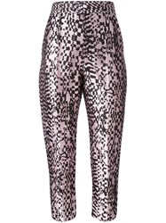 Haider Ackermann 'Madeline' Cropped Trousers Pink Purple