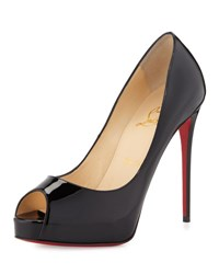 Christian Louboutin New Very Prive Peep Toe Red Sole Pump Black