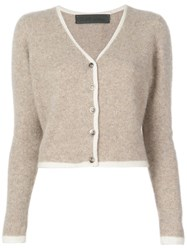 The Elder Statesman Knitted Cardigan Neutrals