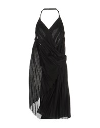 Malloni Knee Length Dresses Black