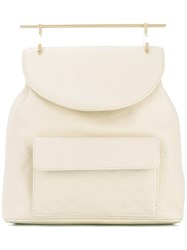 M2malletier Flap Backpack Women Calf Leather One Size Nude Neutrals