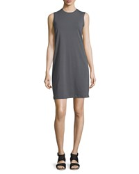 Eileen Fisher Crewneck Organic Cotton Jersey Tank Dress Petite Women's Bark