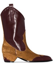 Manu Atelier Deniz 45Mm Panelled Cowboy Boots Brown