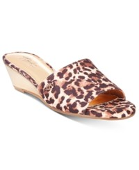 Thalia Sodi Riya Wedge Sandals Only At Macy's Women's Shoes Leopard