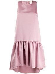 Semicouture Ruffled Hem Satin Dress 60