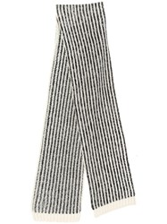 Saint Laurent Knitted Scarf White