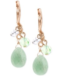 Lonna And Lilly Gold Tone Mint Green Stone Drop Earrings