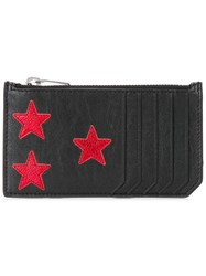Saint Laurent Rider California 5 Fragments Zip Pouch Black