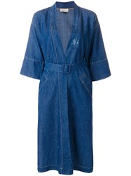 Murmur Denim Bliss Trench Coat Blue