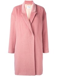 Forte Forte Double Breasted Coat Pink Purple
