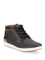 Steve Madden Lace Up Leather Sneakers Black