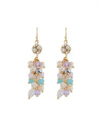 Emily And Ashley Simulated Crystal Chandelier Earrings Purple