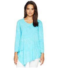 Fresh Produce White Tides Ella Tunic Luna Turquoise Blouse Blue