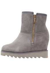 Colors Of California Ankle Boots Stone Grey