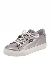 Tod's Lace Up Leather Hiker Sneaker Gray