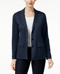 Styleandco. Style Co. Three Button Blazer Only At Macy's Industrial Blue