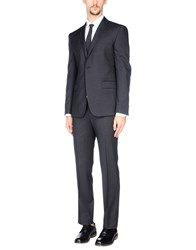 Versace Collection Suits Steel Grey