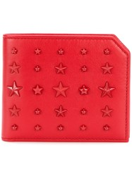 Jimmy Choo Albany Wallet Men Calf Leather One Size Red