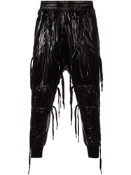 Ktz Lace Fringed Track Pants Black