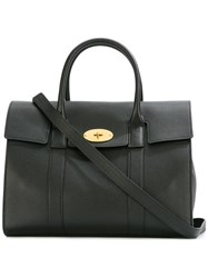 Mulberry Fold Over Closure Tote Black