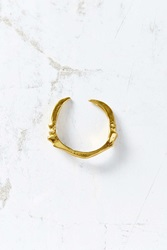 Verameat Adjustable Dino Claw Ring Gold