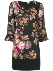 Liu Jo Floral Shift Dress Black